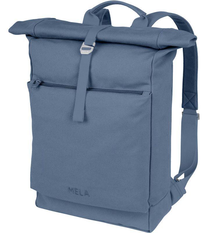 Großer Rolltop-Rucksack AMAR in dusty blue