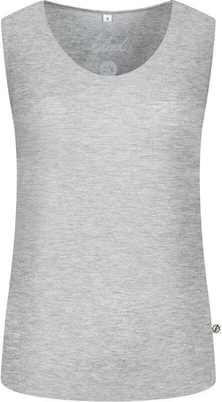 Grau meliertes Essential Damen-Top