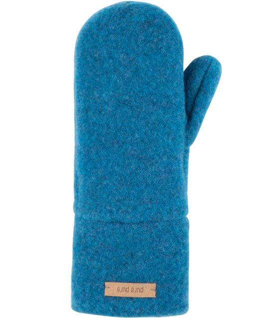 Blaue Kinder-Fäustel (100% Wolle)