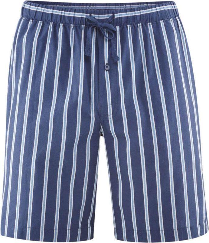 Kurze Schlaf-Shorts mit Streifen in navy/azur