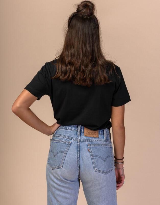 Schwarzes Basic Damen-Shirt KHIRA