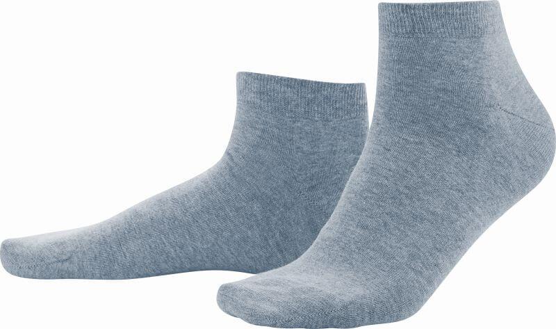 Hellblaue Sneaker-Socken im Doppelpack