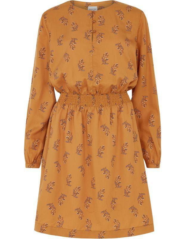 Geblümtes Kleid Hanna aus Lyocell in Almond