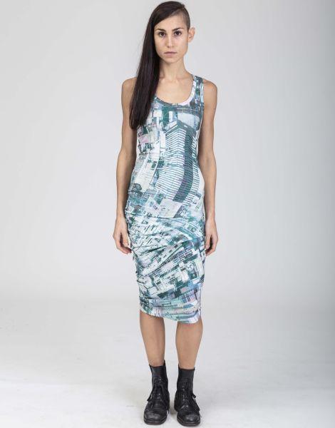 Schickes Kleid mit Großstadt-Motiv