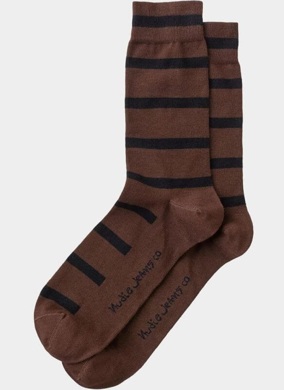 Herren-Socken Olsson Tiger Stripes Brown