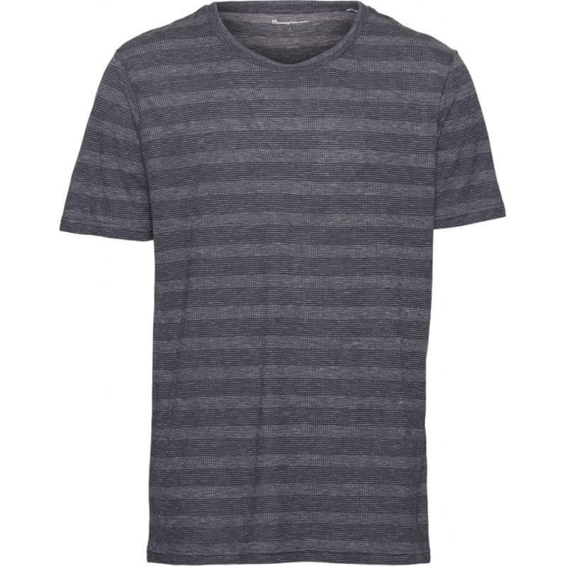 Herren-Shirt Striped Hemp Tee total eclipse
