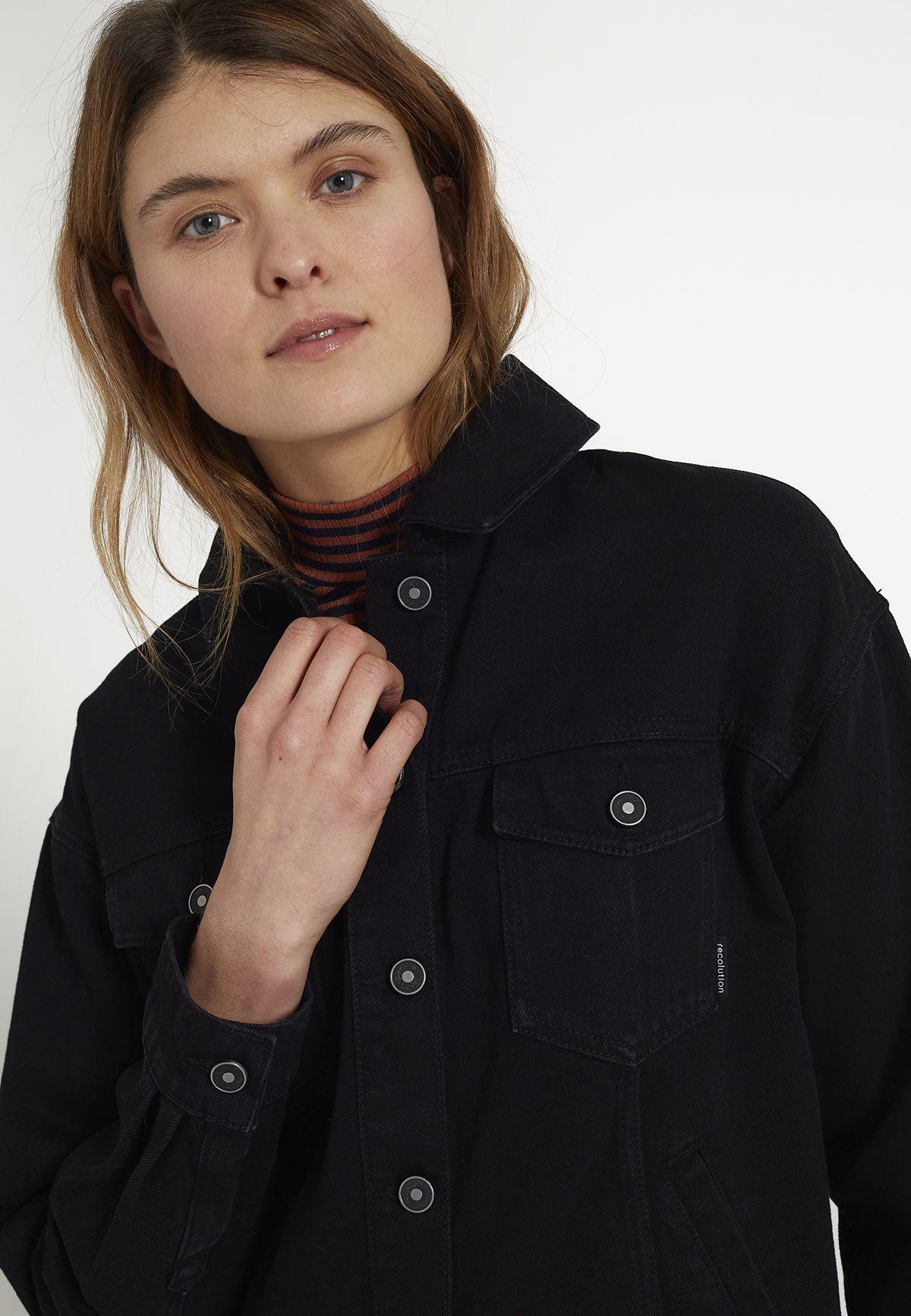 Damen-Jeansjacke SISSOO washed black
