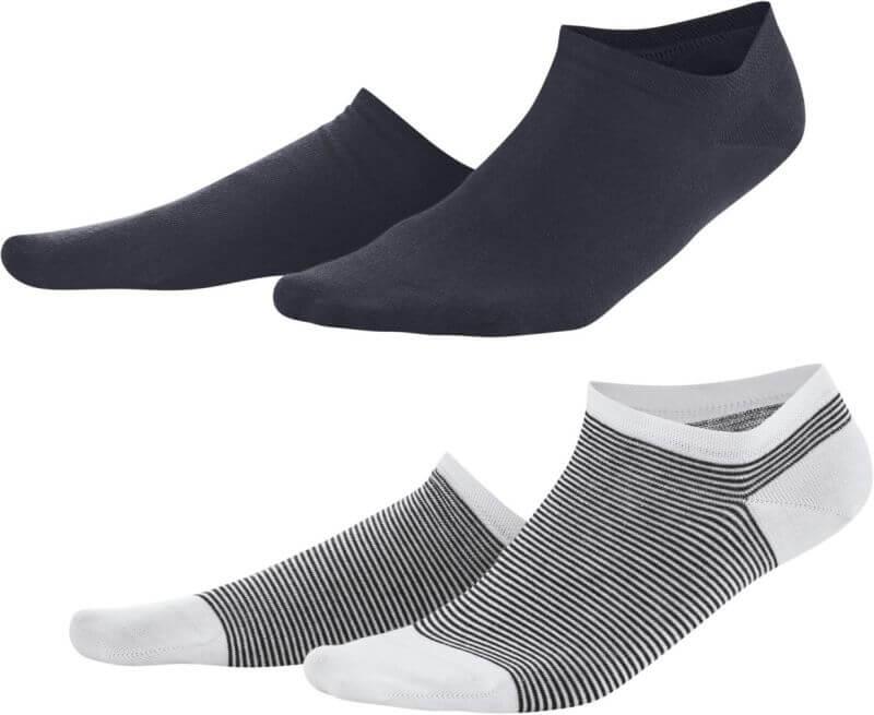 Damen-Sneaker-Socken im 2er-Pack navy/white