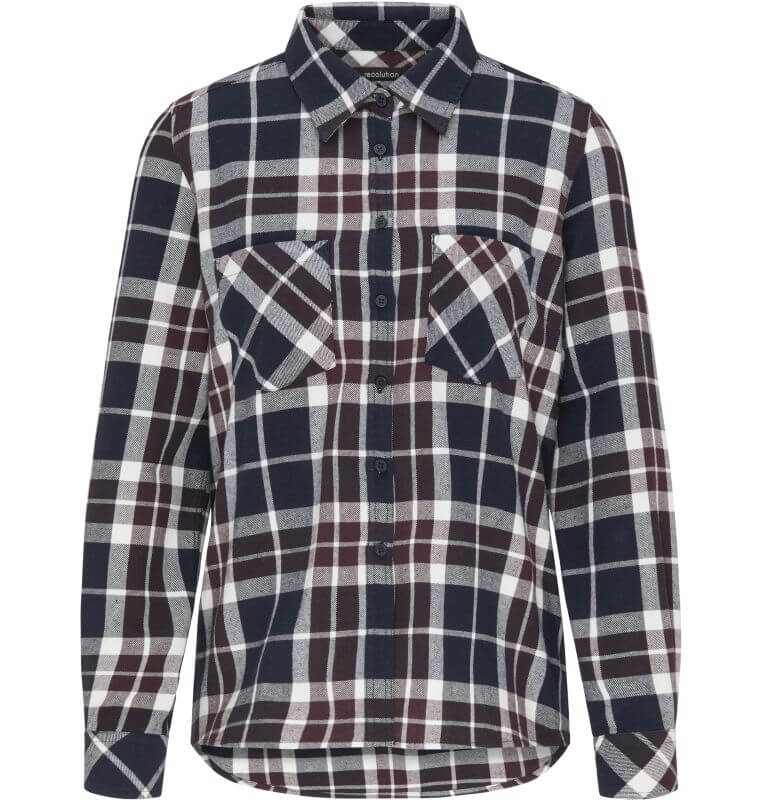 Karierte Flanell-Bluse CHECKED red