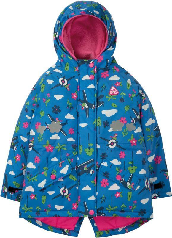 Wasserdichte Mädchen-Jacke mit Flugzeugen
