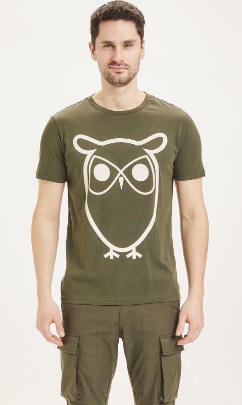 Basic Herren-Shirt ALDER Owl in Forrest Night