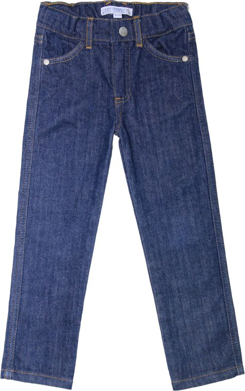 Schmale Basic-Jeans für Kinder dark denim