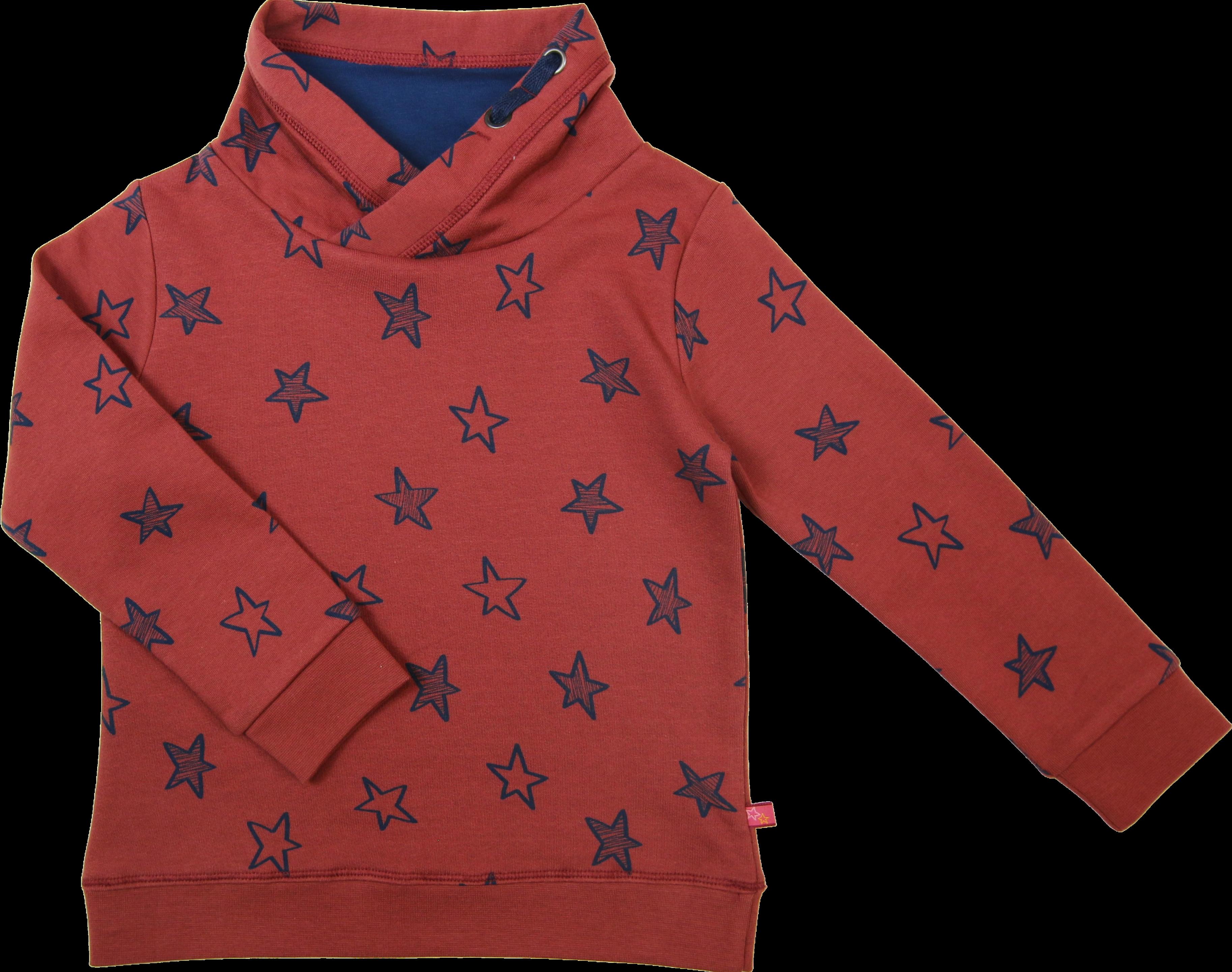 Kinder-Sweatshirt mit Sterndruck rost-tintenblau