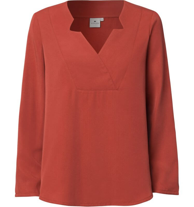 Seidige Damen-Bluse WASAT chili