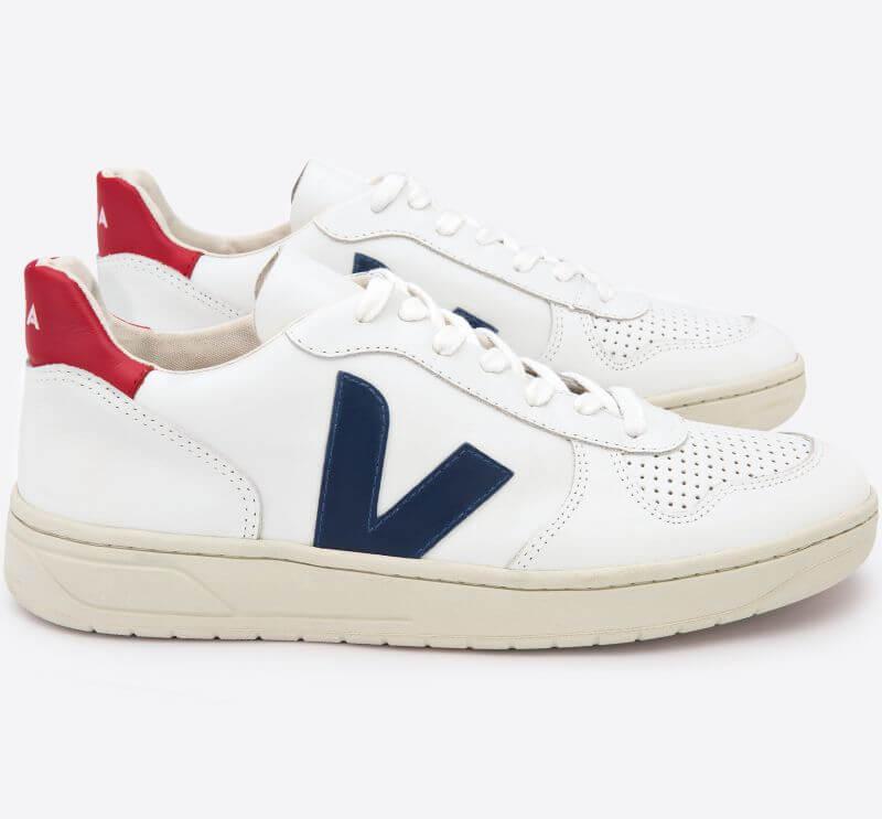 Sneaker V-10 Extra White/Nautico/Pekin