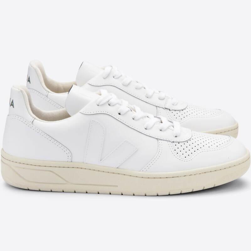 Herren-Sneaker V-10 Extra White aus Leder