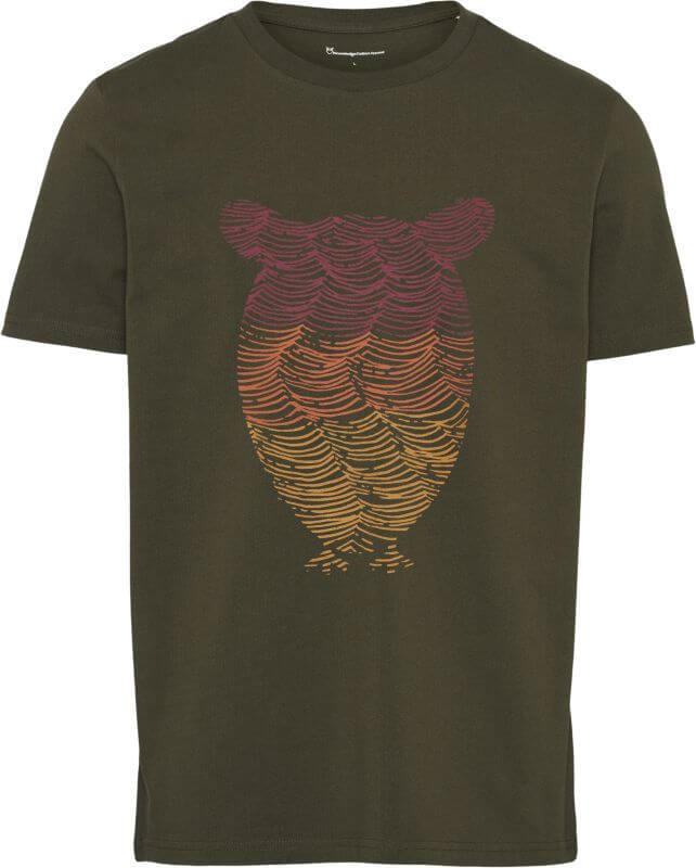 Herren-Shirt ALDER Owl Wave Print forrest night