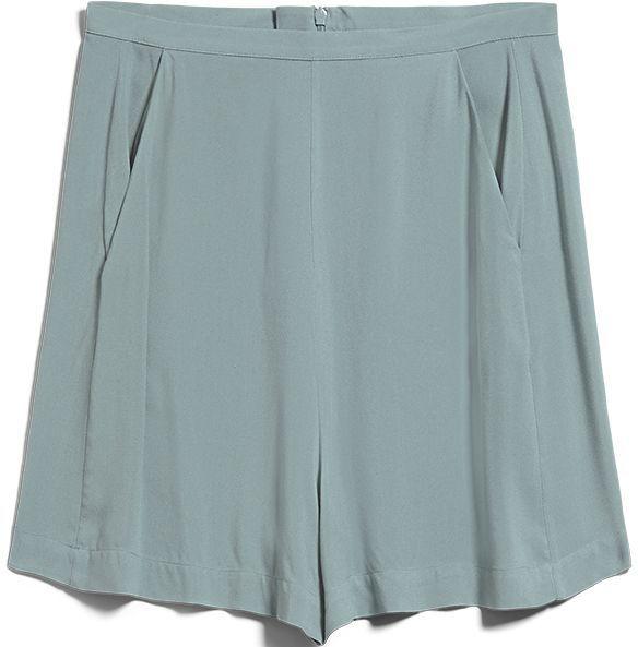 Weiche Damen-Shorts INTIAA eucalyptus green