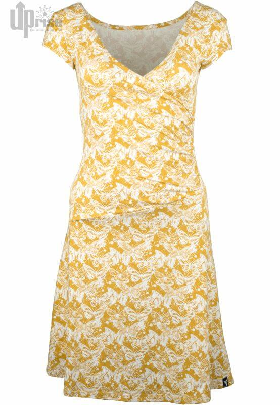 Gelbes Kurzarm-Kleid Party Dress Mariposas