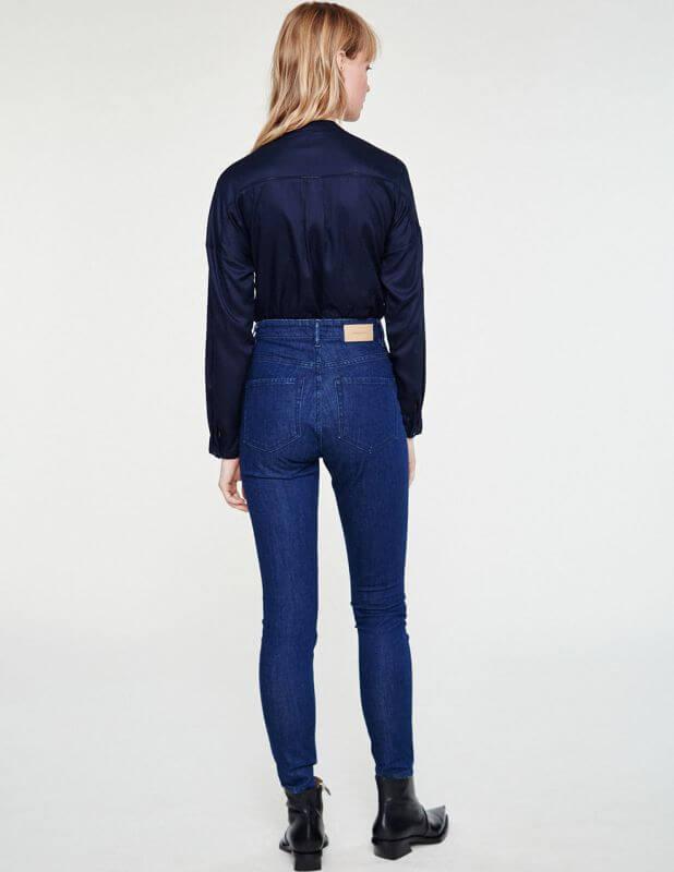 Vegane Damen-Jeans Inga High Waist rinse