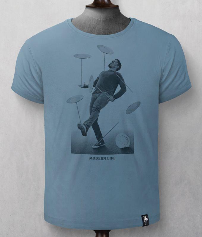 Herren-Shirt Spinning Plates Noble Blue