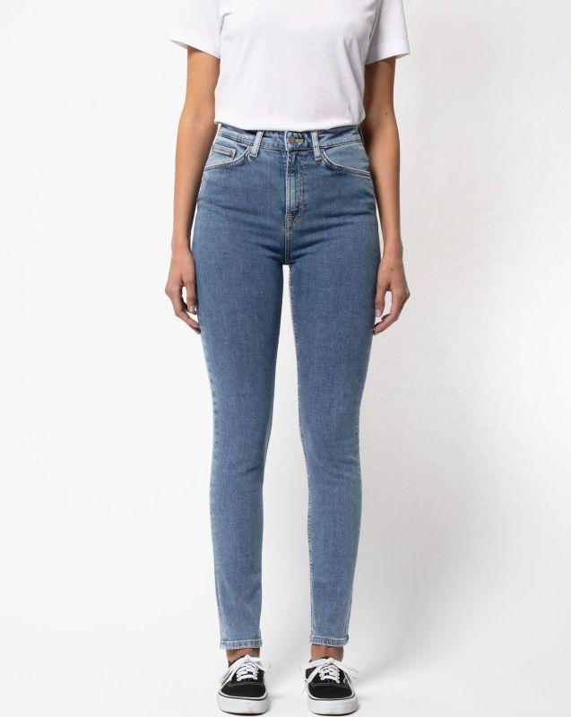 Highwaist-Jeans Hightop Tilde - Blue Sun