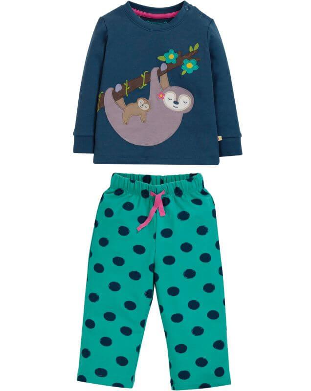 Zweiteiliger Baby-Schlafanzug mit Faultieren