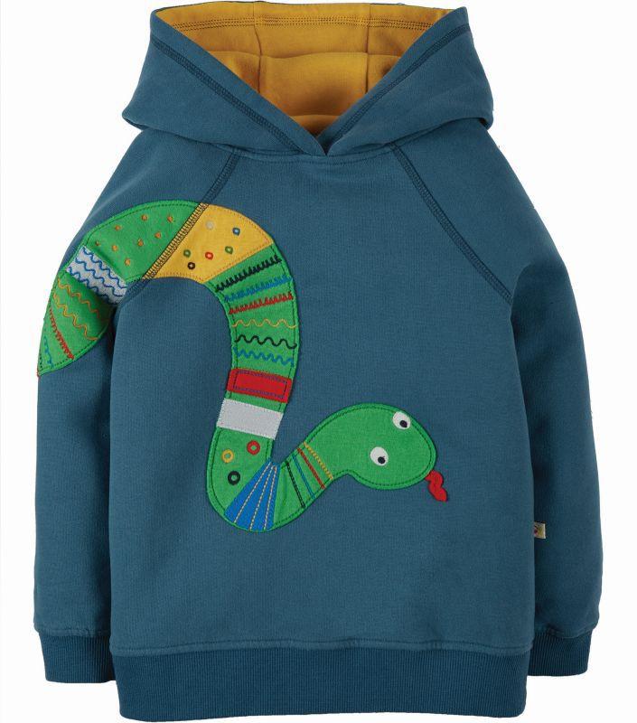 Weiche Kapuzen-Pullover aus Fleece mit Schlange