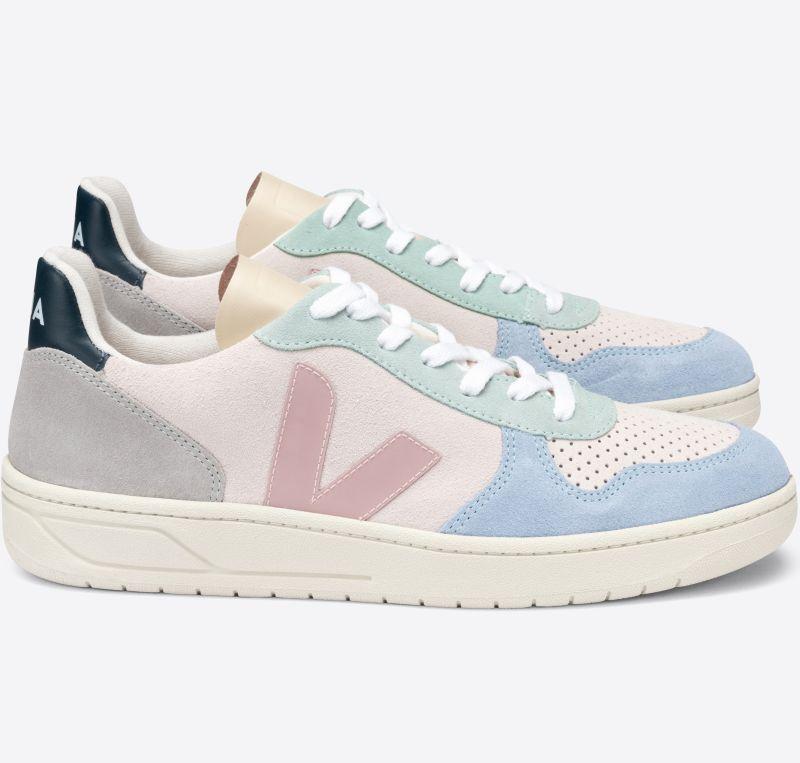 Herren-Sneaker V-10 Suede Multico Natural Babe