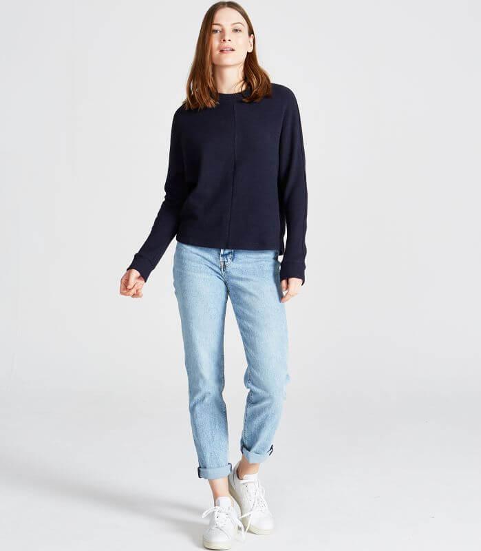 Weicher Damen-Pullover Wilma Midnight Blue