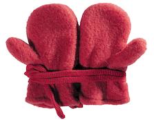 Kuschelige Baby-Fäustel in Rot (100% Wolle)