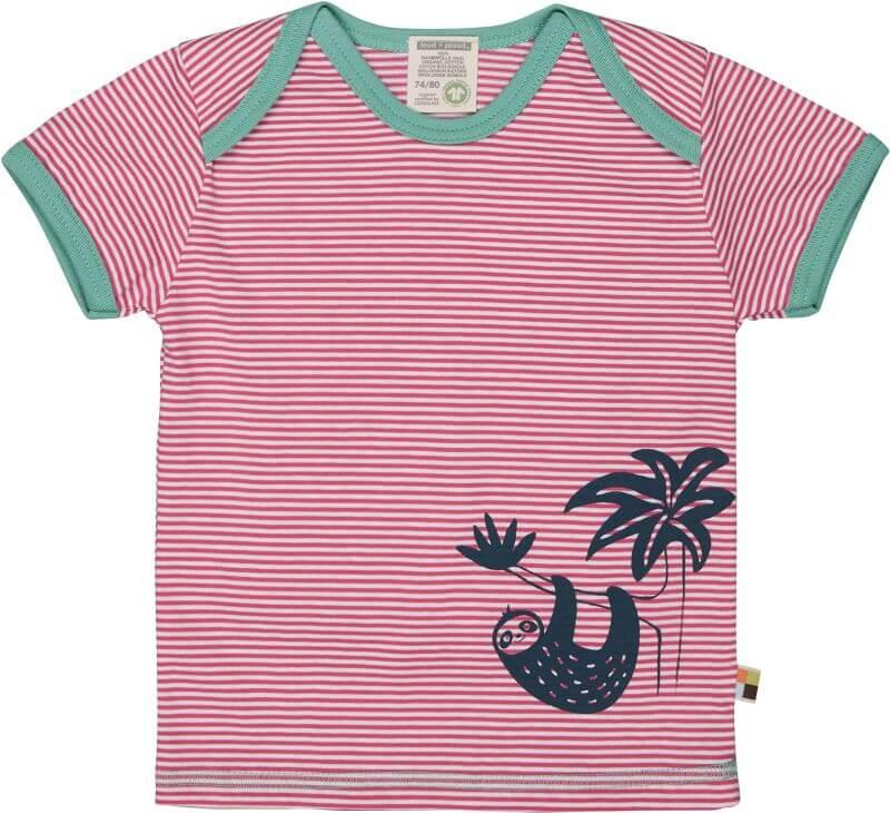 Gestreiftes T-Shirt mit Faultier azalea