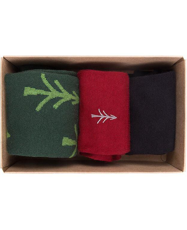 Praktische Sockenbox mit 3 Paar Socken