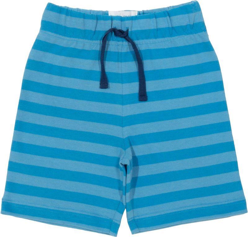 Hellblaue gestreifte Jungs-Shorts