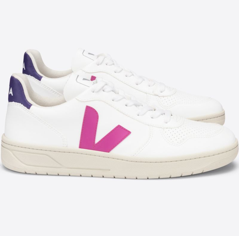 Vegane Damen-Sneaker V-10 CWL White Ultraviolet/Purple