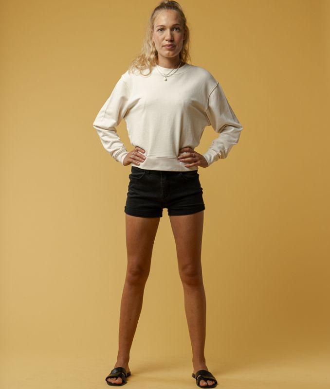 Sportliches Basic-Sweatshirt RATI in cream