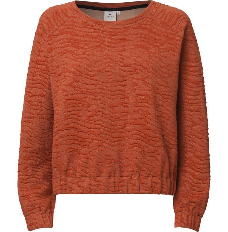 Strukturierter Damen-Sweater DIMMA chili