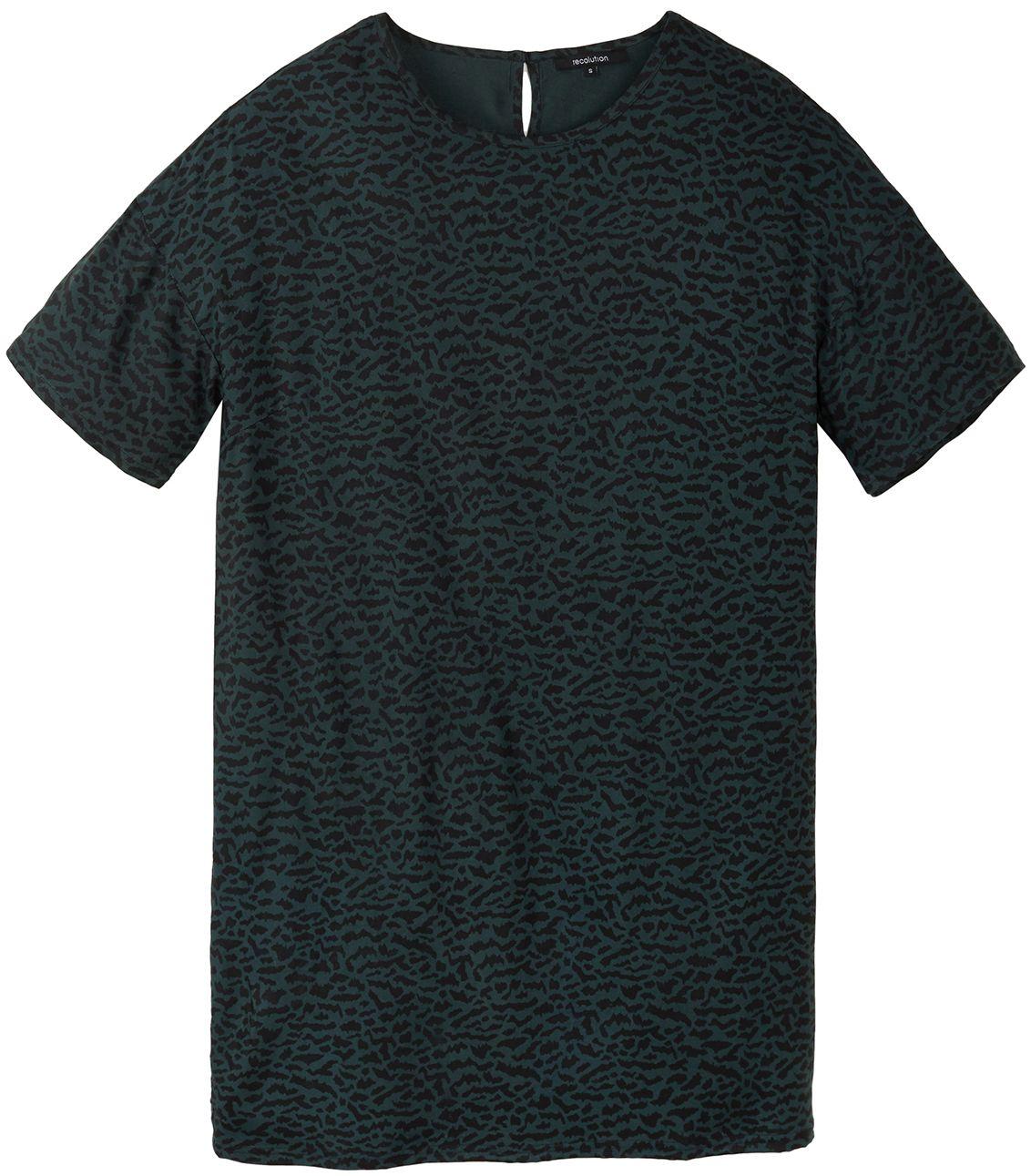 Gemustertes Damen-Kleid CLOVER ABSTRACT deep green