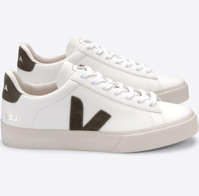 Herren-Sneaker Campo Chromfree Extra White/Kaki