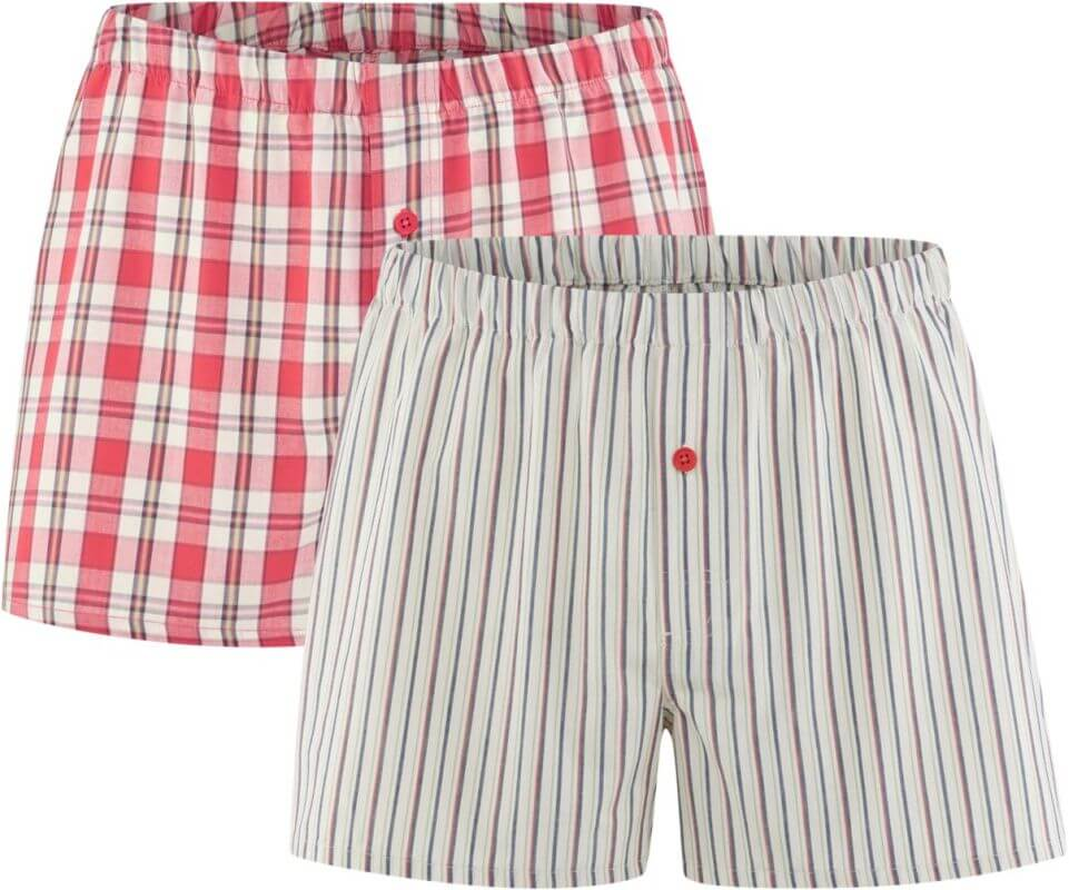 Boxer-Shorts im Doppelpack cayenne/natural
