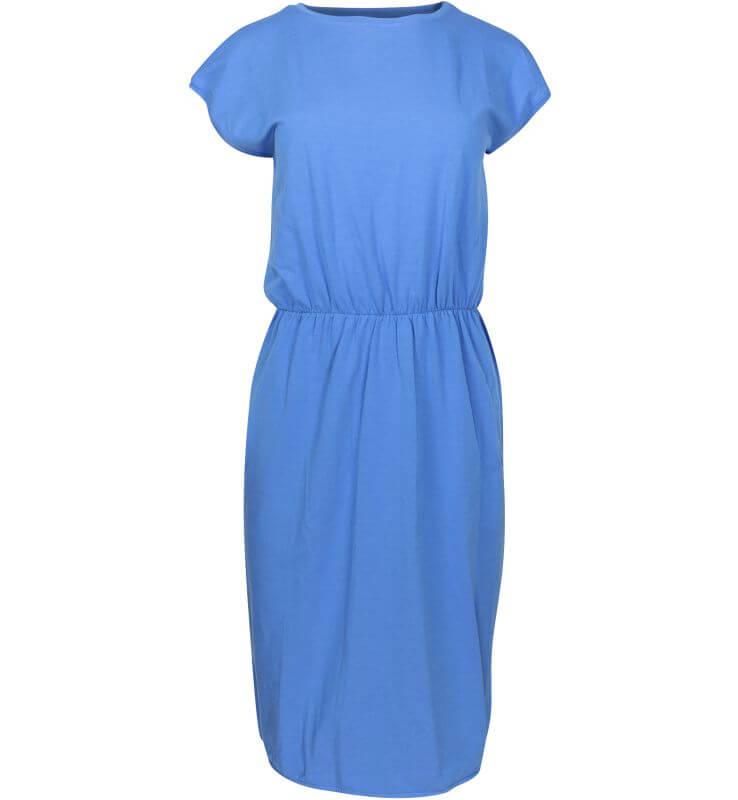 Schickes Kurzarm-Kleid ODEMIRA in Blau