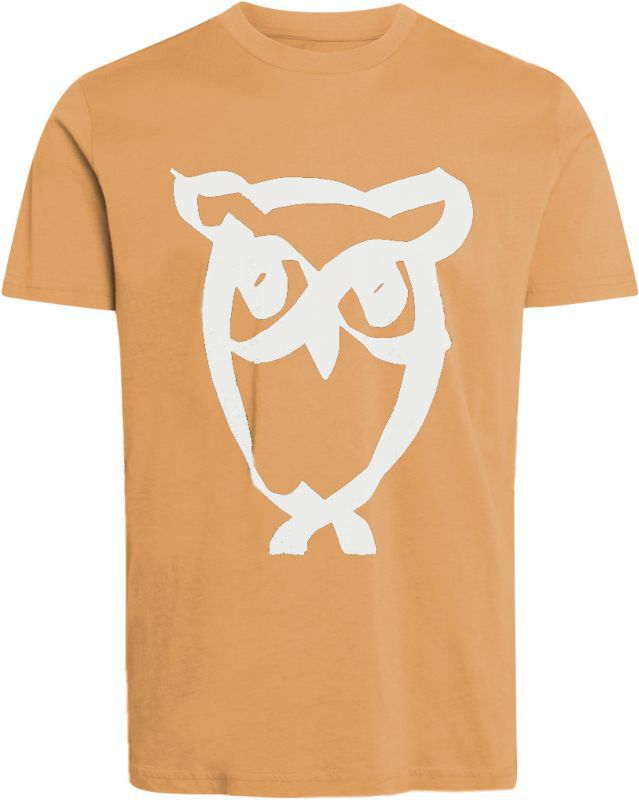 Cooles Herren-Shirt ALDER brushed owl in Abricot