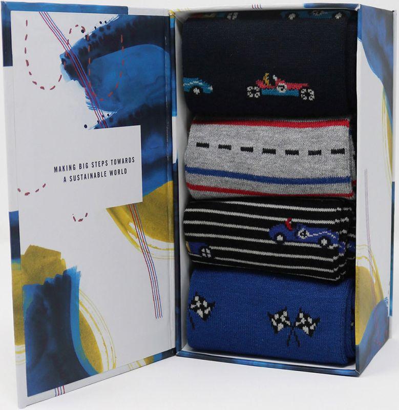 Geschenk-Box Maxie Racing mit Herren-Socken
