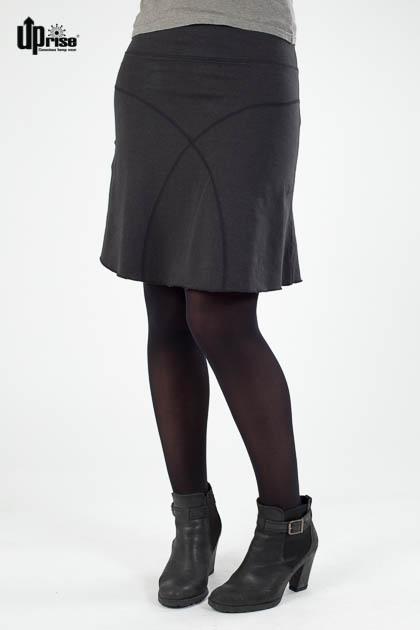 Bequemer Rock Daily Skirt in Schwarz