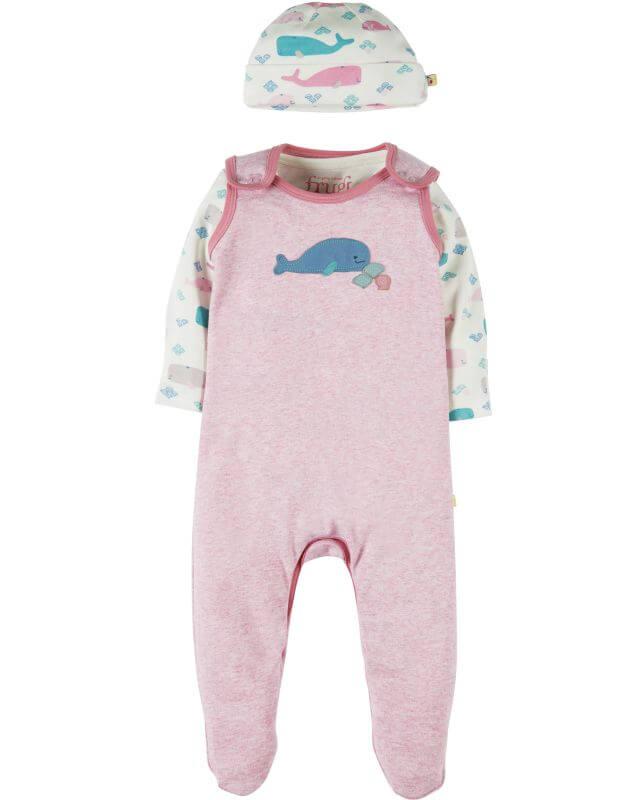 Dreiteiliges Set für Babys mit Walen