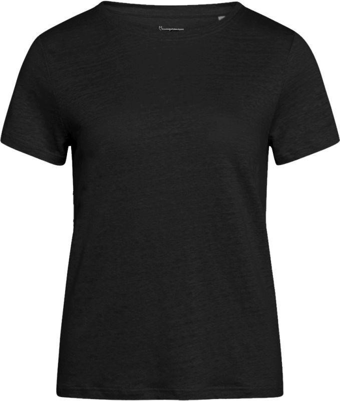 Schwarzes T-Shirt für Damen HOLLY aus Leinen