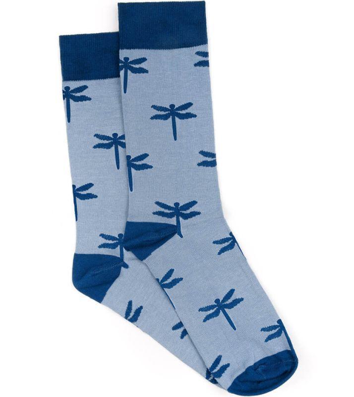 Hellblaue Lakefly Socken