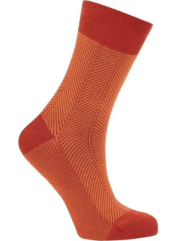 Bequeme Socken HERRINGBONE lava unisex
