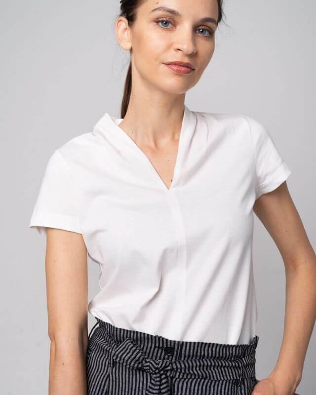 Schickes Damen-Shirt Kelch in Weiß