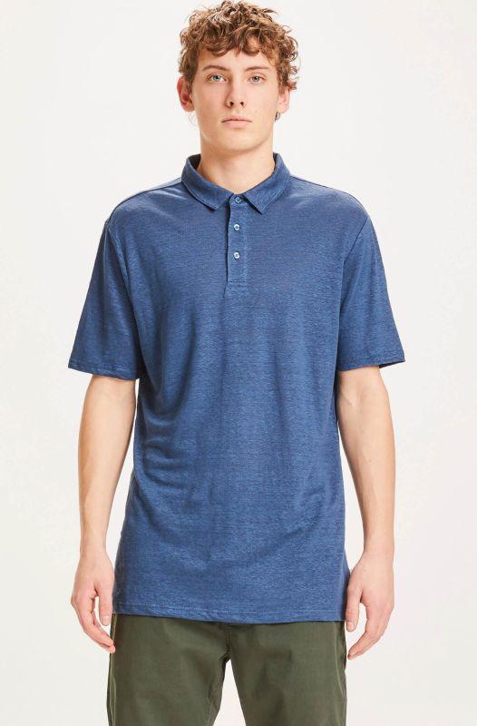 Schickes Polo-Shirt aus Leinen dark denim